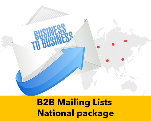 B2B Mailing Lists National package